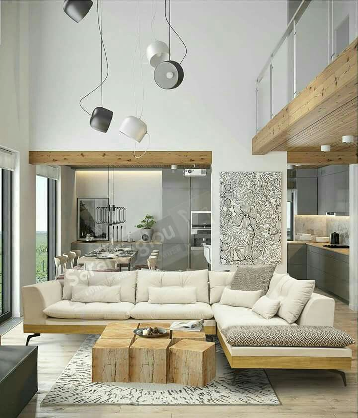Simply White Living Room Ideas: Simply Chic And Cozy! Earth Colours, Sugar White And Wood