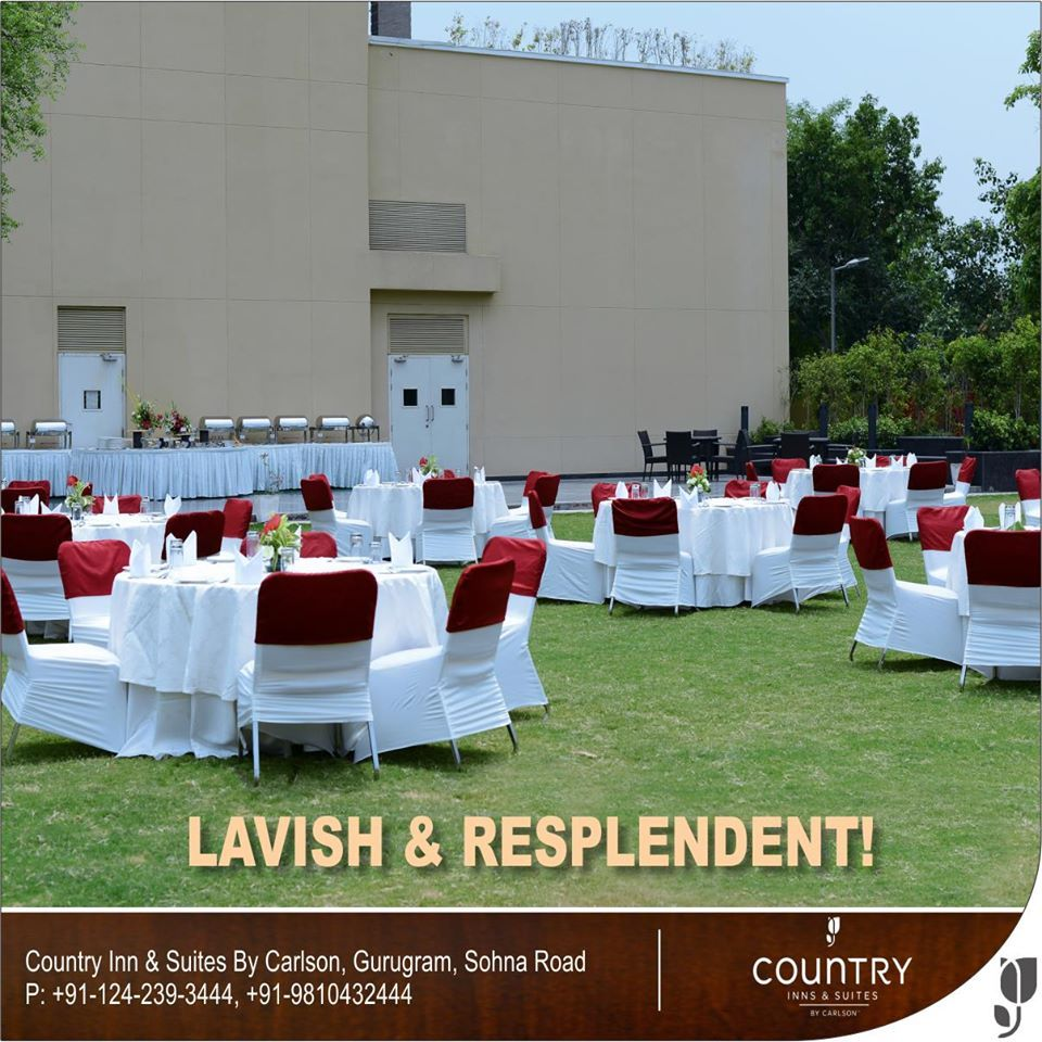 With our lavish equipment, #celebrate and create #memories.
