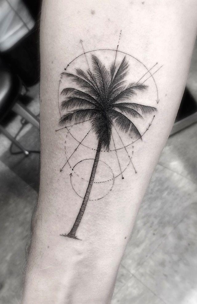 Geometric Palm Tree Tattoo Google Search Dream Stuff Pinterest