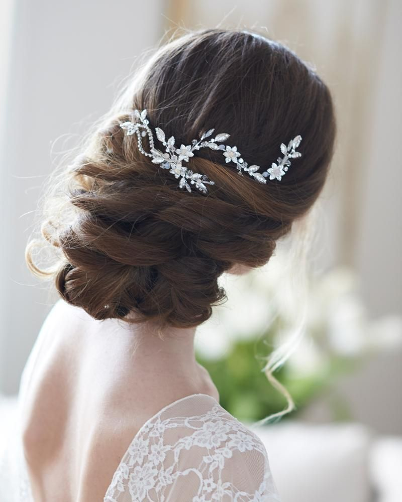 allura floral hair clip in 2019   products   bridal hair