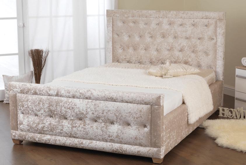 A \'LISA\' Crushed Velvet Bedstead – House of Sparkles | home decor ...