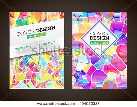 Abstract Low Polygonal Colorful Design Background Abstract Colored
