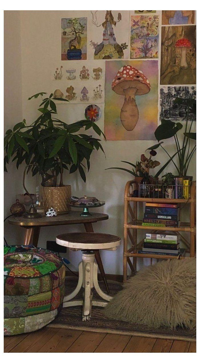 indie kid room plants