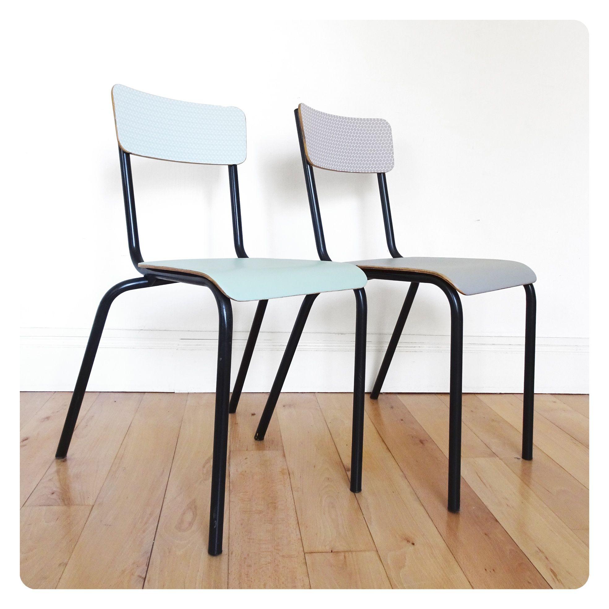 Chaise D École Mullca 2 chaises d'école vintage - | relooker meuble, mobilier de