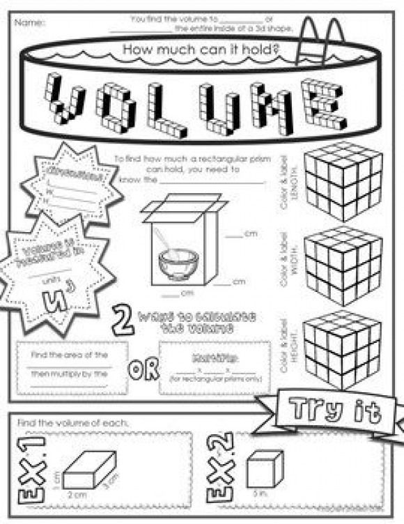 Volume and Surface Area Doodle Notes #math #math #doodles