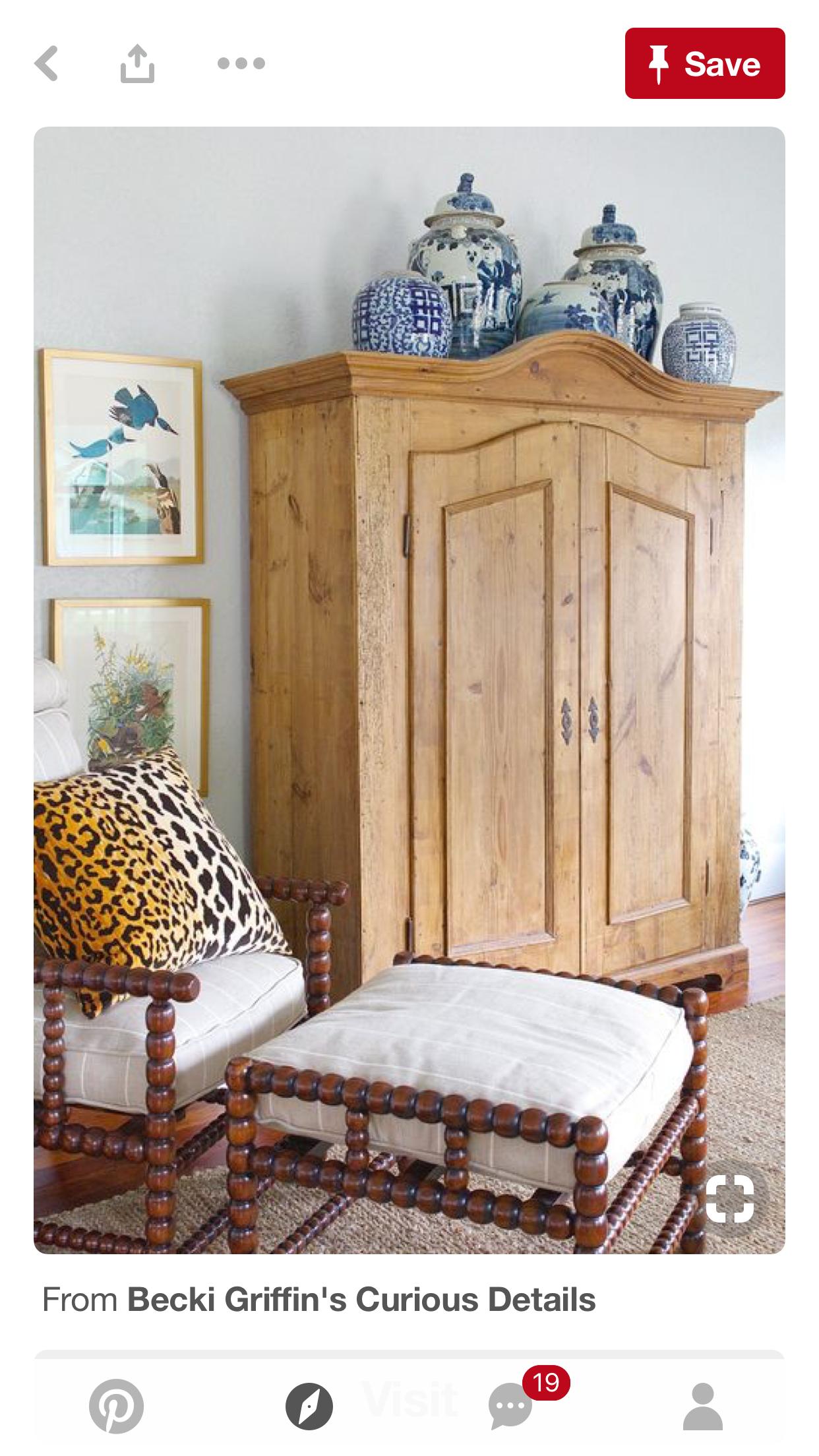 Gorgeous pine armoire little details big effect pinterest