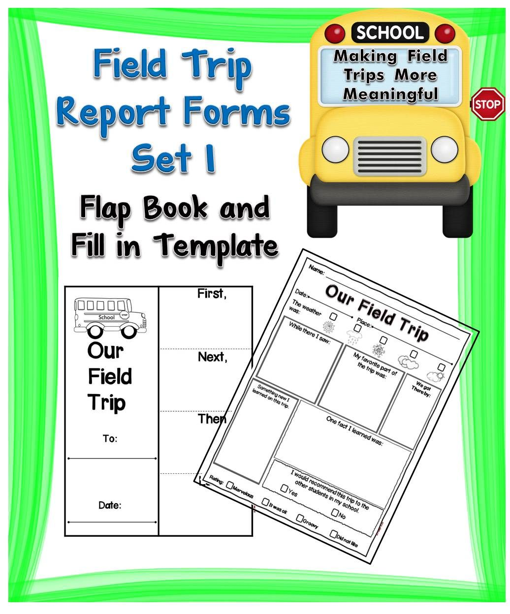 Field Trip Report Forms Set   Field Trips Fields And Students