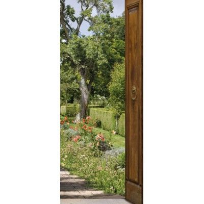 Sticker trompe l\'oeil de portes - Mon jardin | casa | Pinterest