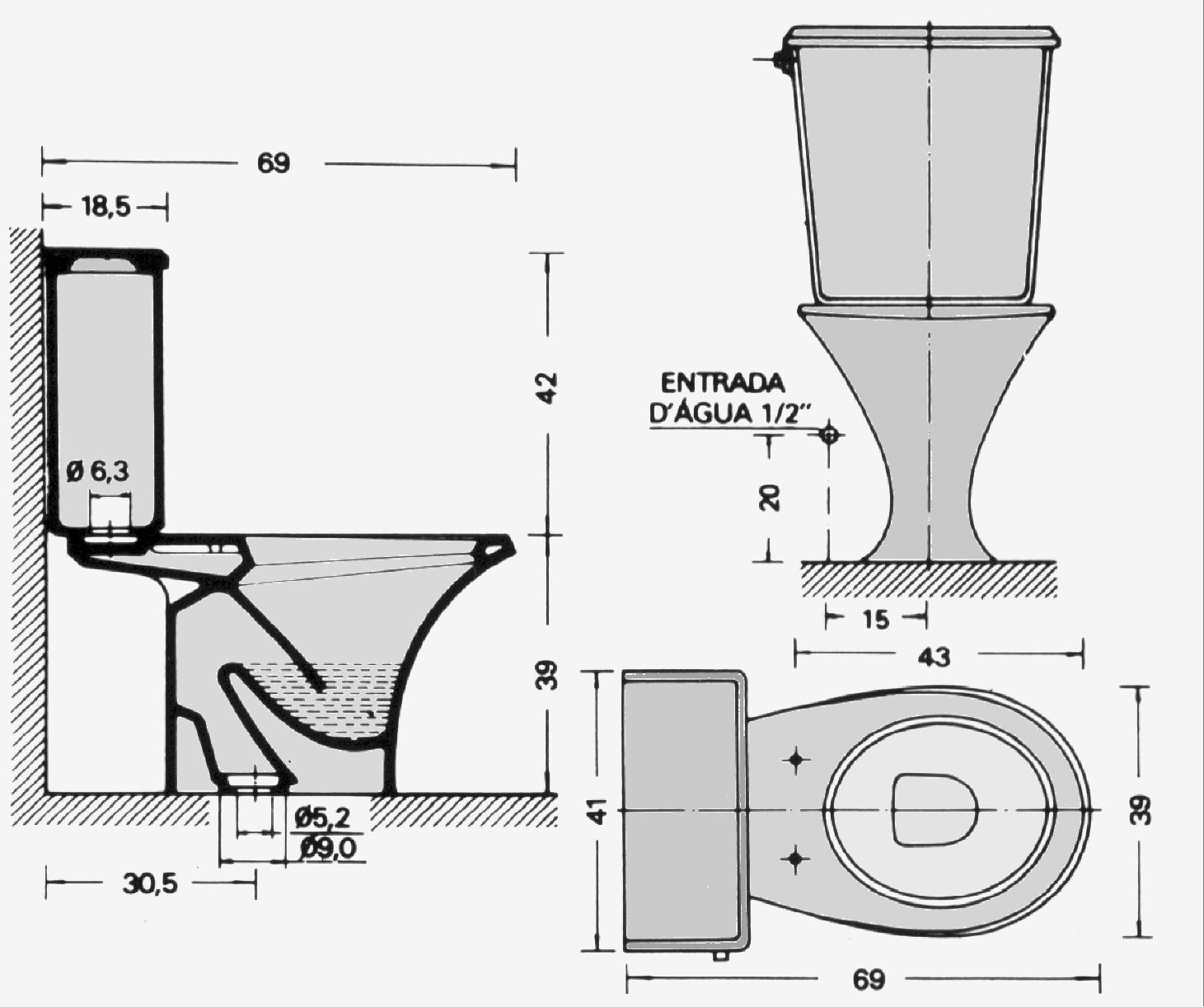Ba o dimensiones del inodoro distancia tanque ba o for La caixa pisos embargados