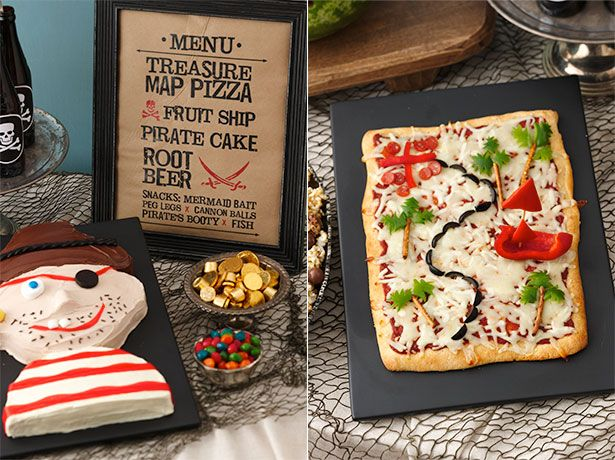 Treasure map pizza and other Pirate Party Foods