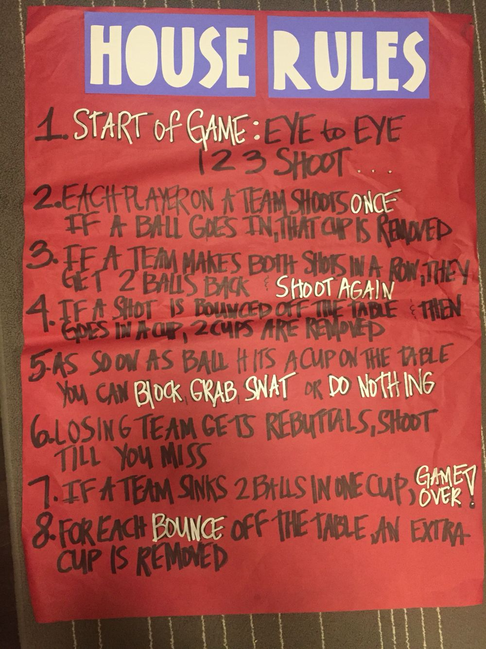 Root Beer Pong Program House Rules Beer olympics party