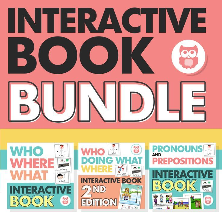 An amazing interactive book bundle for speech and language therapy that is perfect for preschool. Target WH questions, prepositions, pronouns, and more! From Speechy Musings.