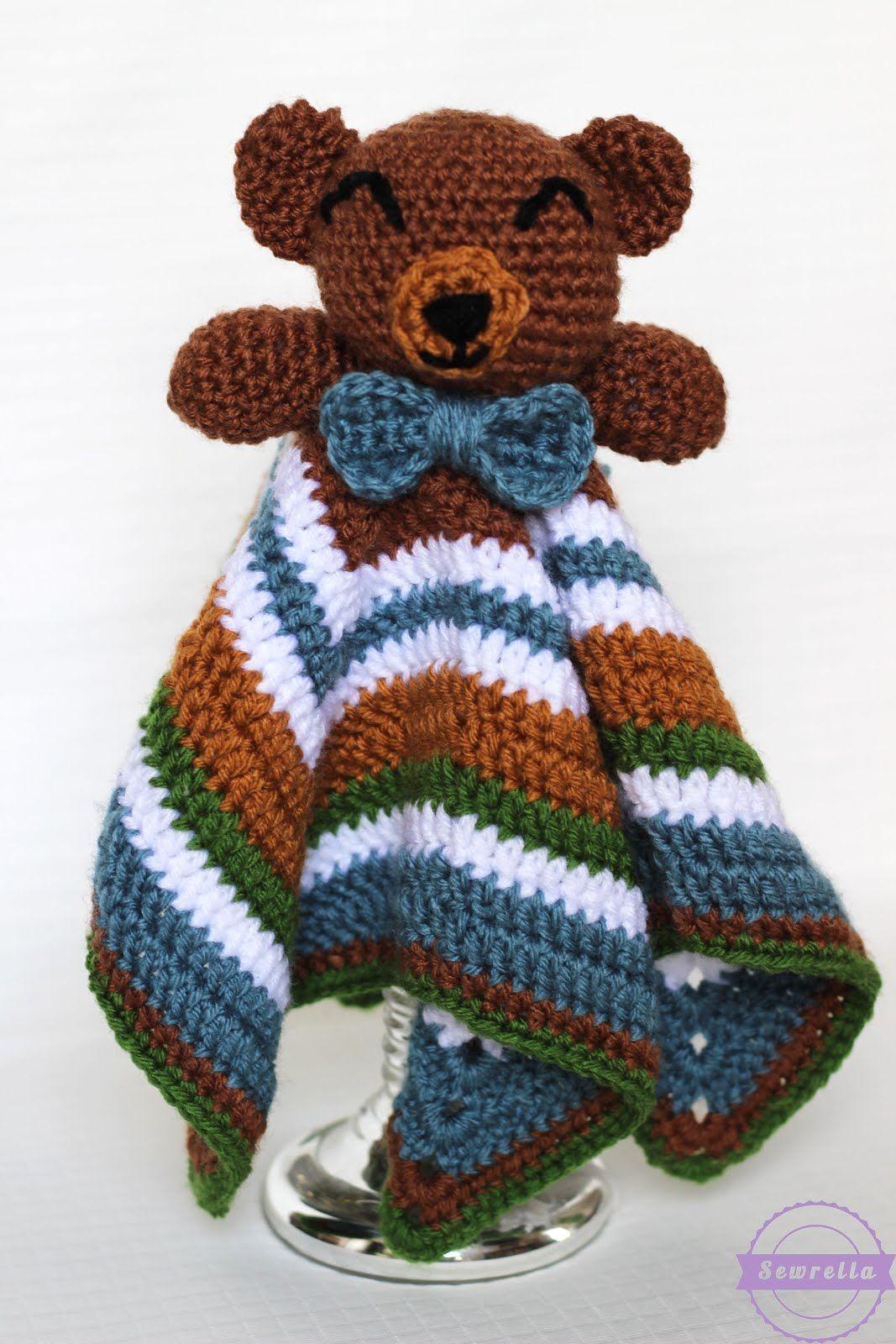 The Cuddliest Crochet Bear Lovey   crochet animals   Pinterest ...