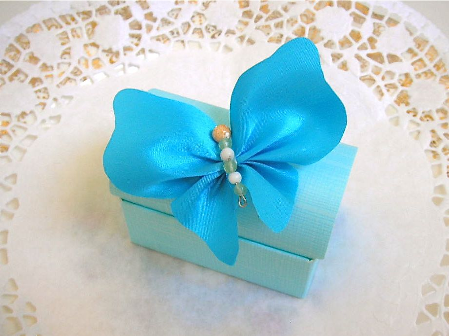 How To Make Ribbon Butterfly | Favor Ribbons | Butterfly Bow Box ...