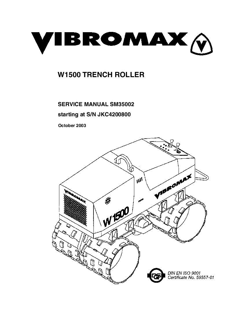 JCB Vibromax W1500 Trench Roller JKC4200800 Workshop