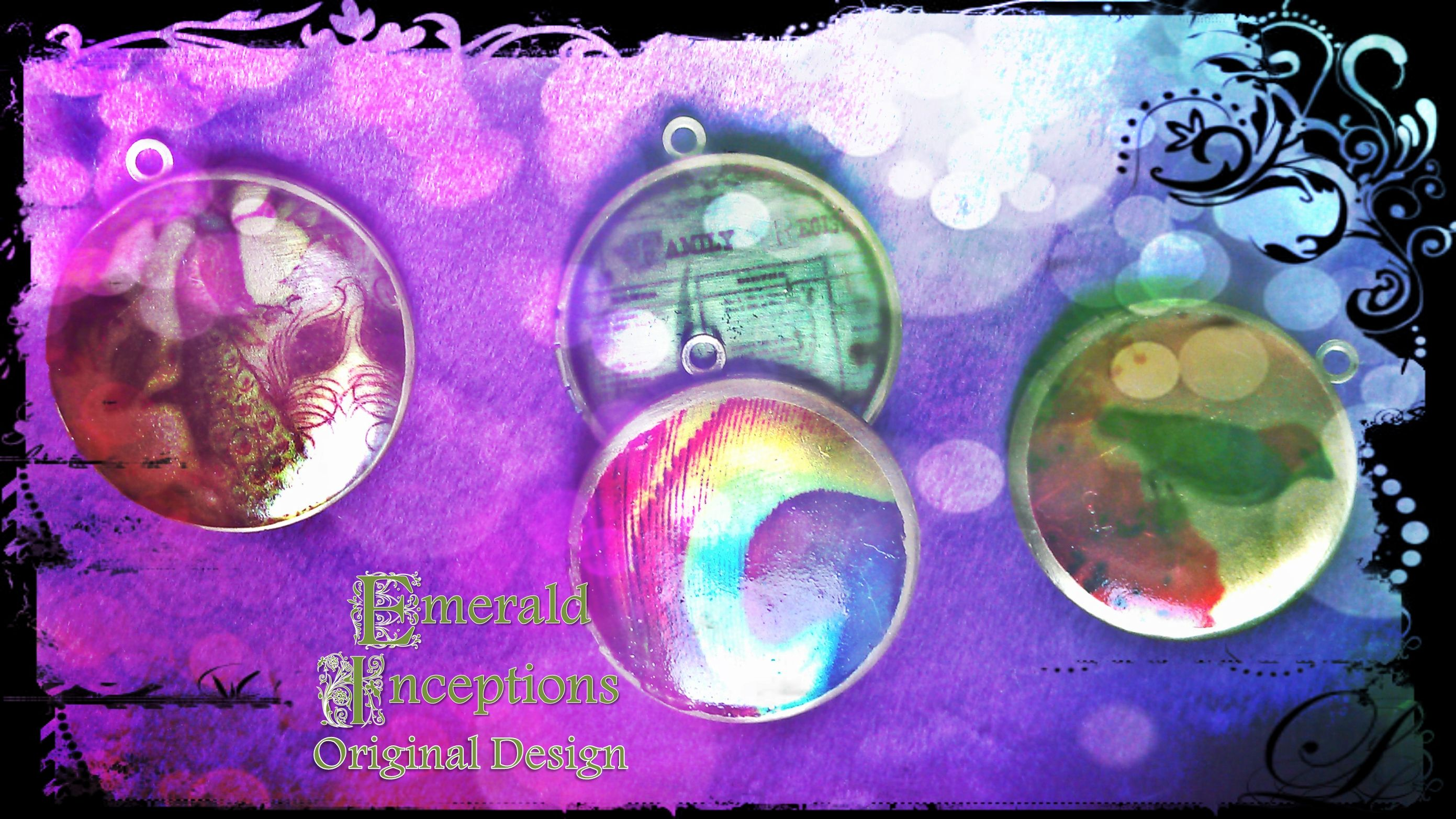 Brand spanking new lockets made using image transfer technique ;) ~ another unique design by Emerald Inceptions, check us out on FB, Twitter and Website ;)
