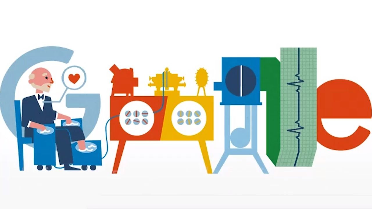 Willem Einthoven Google Doodle Celebrates Inventor Of The Ecg And Pioneering Scientist S 159thb Day Google Doodles Doodles Google Logo