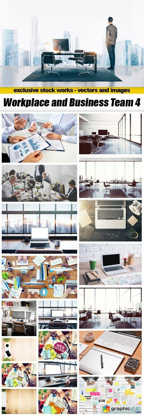 Workplace and Business Team 4  25xUHQ JPEG  stock images