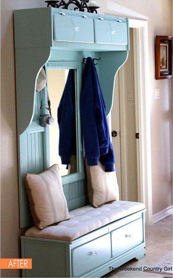 Diy Fabriquer Un Meuble D Entree Avec Une Ancienne Commode Floriane Lemarie Furniture Makeover Repurposed Furniture Diy Furniture