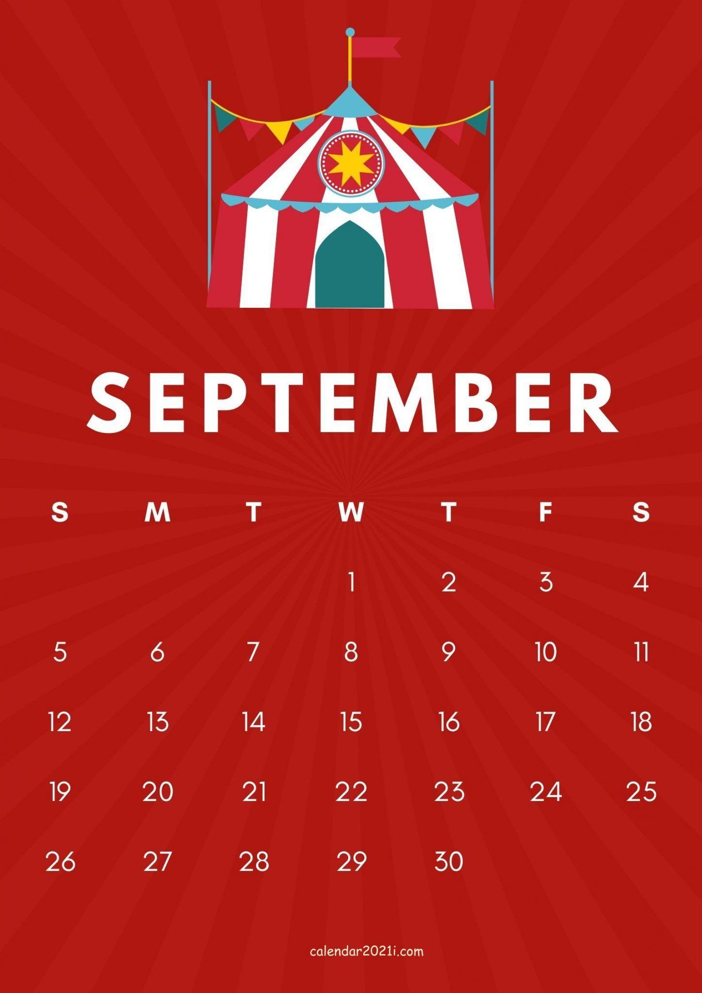 September 2021 Cute Calendar Design in 2020 Free