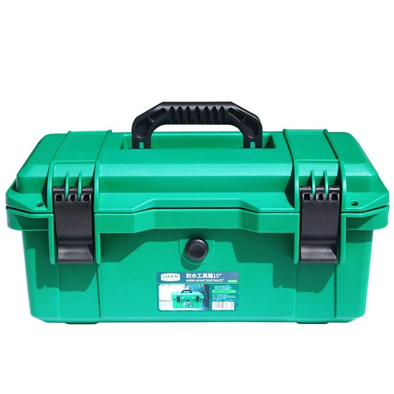 Aluminum Hard Case Foam Black Briefcase Tool Box Carrying Case Portable Tool Cas