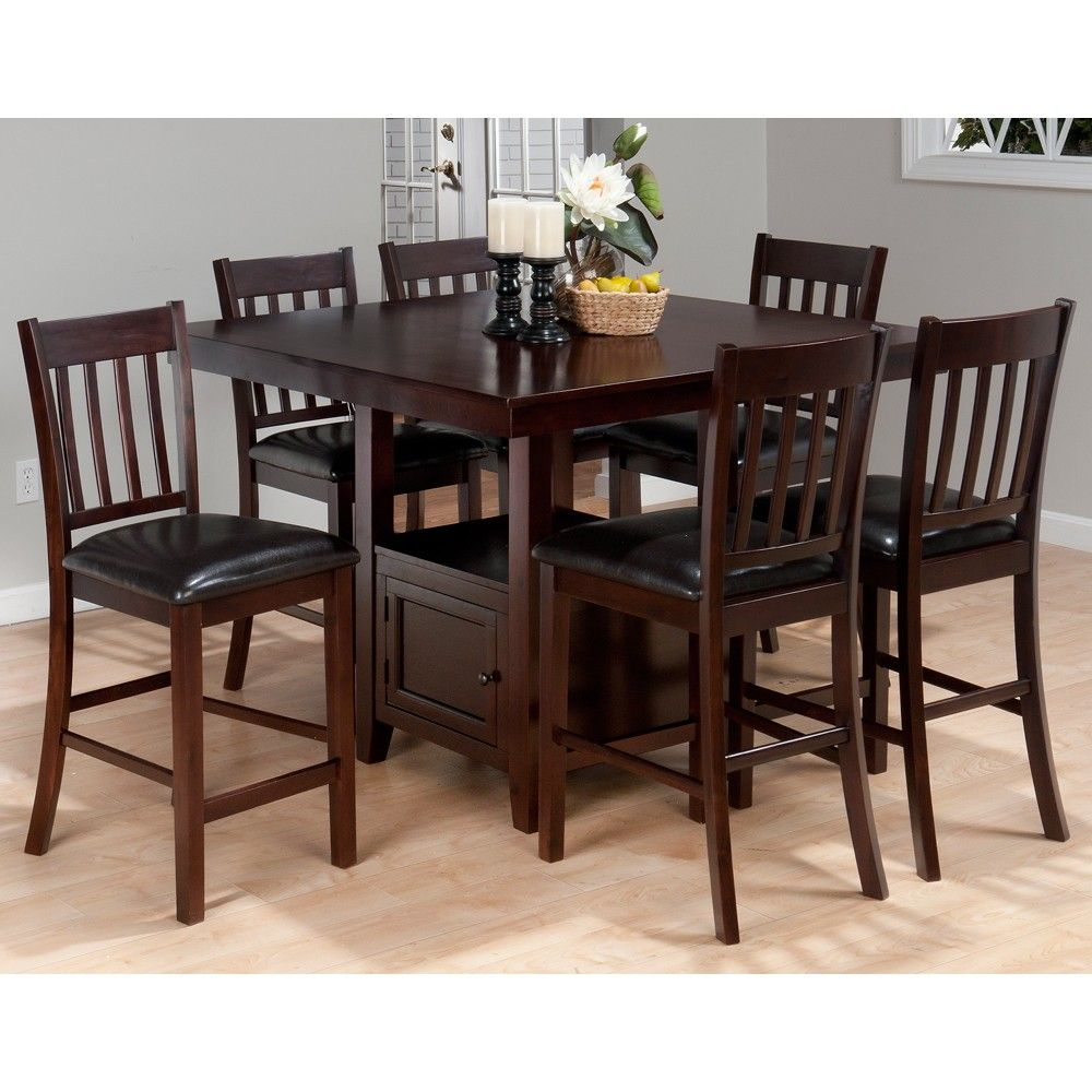 Tessa 933 48 Wood Counter Height Dining Table Stools In Chianti