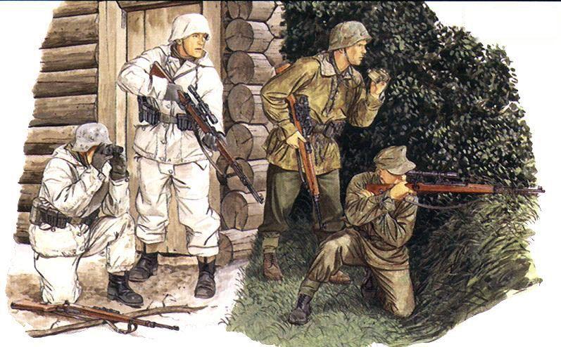 German Sniper Teams.