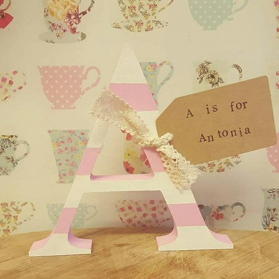 Antonia personalised baby letter nursery decor | Personalised ...