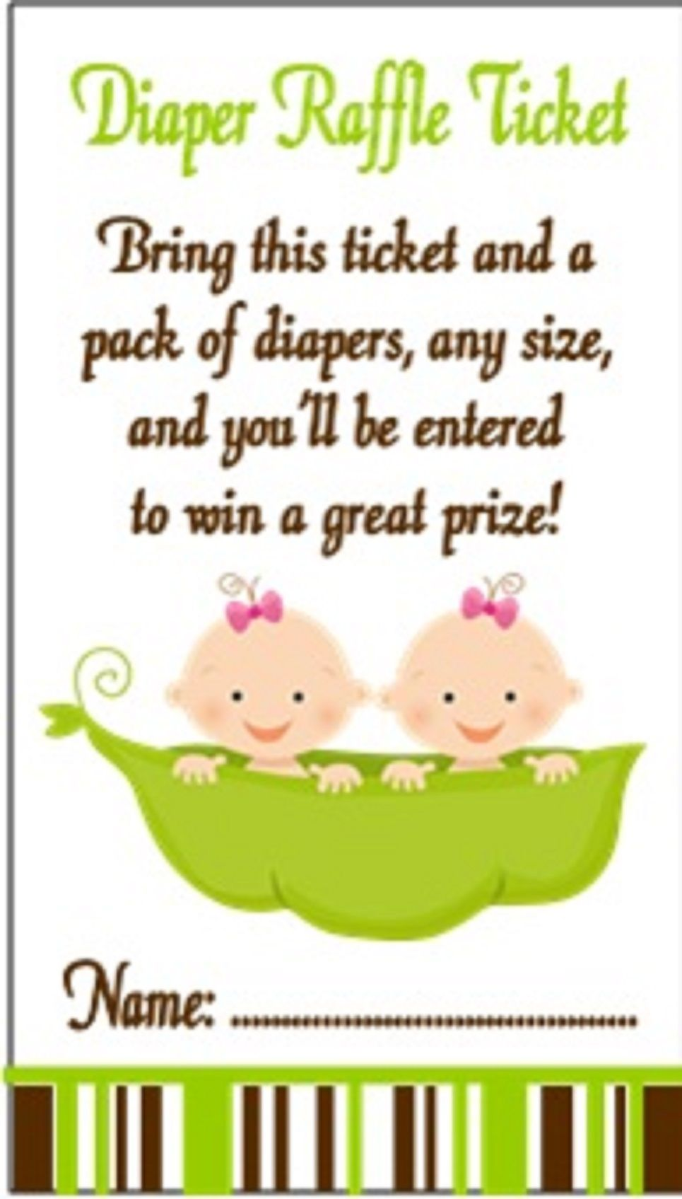 Baby Shower Diaper Raffle Ticket - Peas in a Pod | Babies Babies and ...