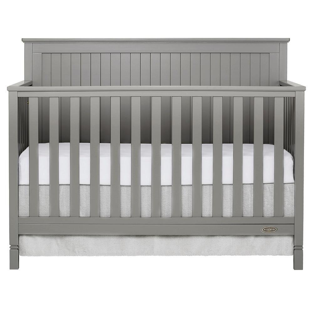 Dream On Me Alexa Storm Grey 5 In 1 Convertible Crib 728 Sgy Convertible Crib Cribs Modern Crib