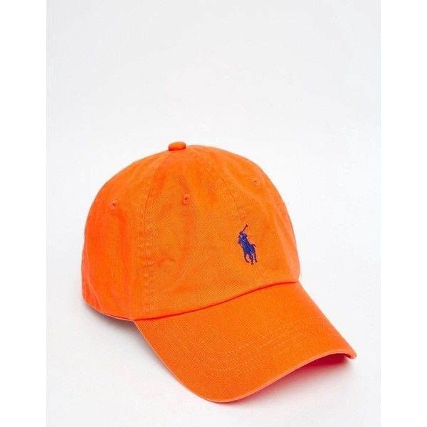 48a6151bbb054 Polo Ralph Lauren Player Baseball Cap In Orange ( 33) ❤ liked on Polyvore  featuring men s fashion, men s accessories, men s hats, orange, mens caps  and ...