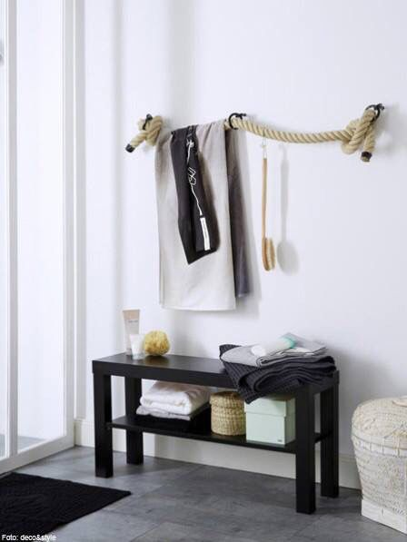 DIY - Handtuch-Halter aus dickem Tau für Dein Bad wohnung - badezimmer accessoires set