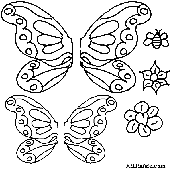 butterfly colouring printable | Butterfly/Dragonflies ...