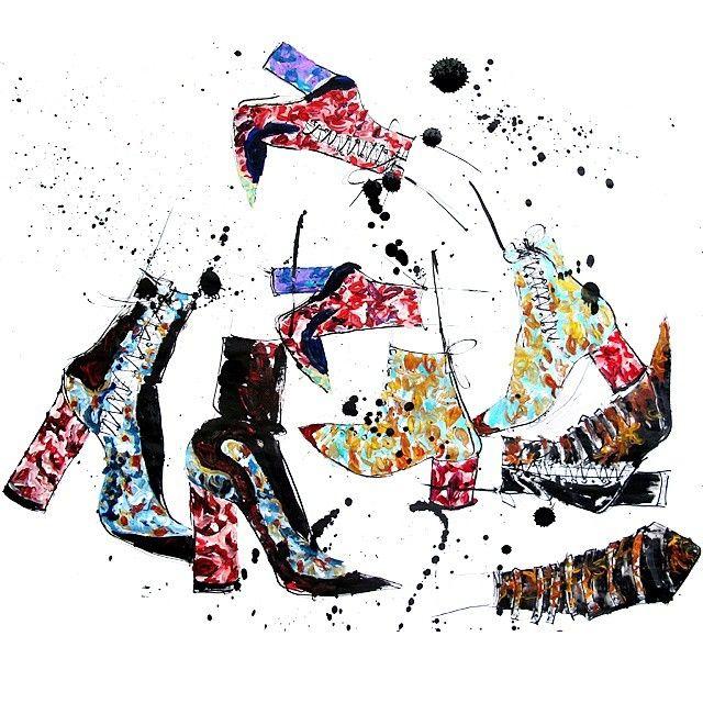 Happy feet at #diorcruise2016  #fashionillustration #illustration #dior