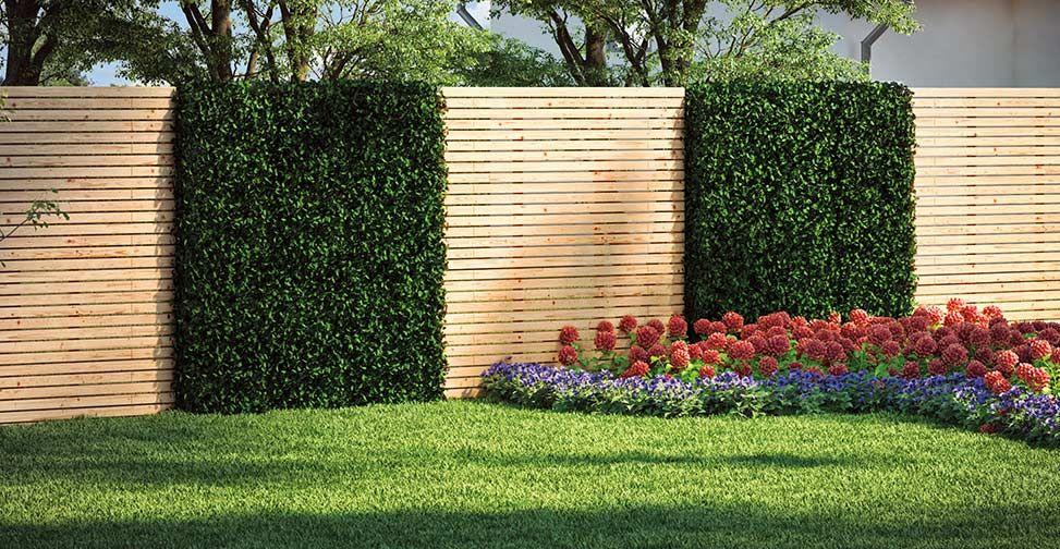Zaun \ Sichtschutz selber bauen - garten sichtschutz stein