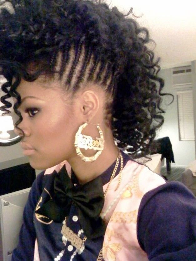 Enjoyable 1000 Images About Mohawks Hairstyles On Pinterest Braided Hairstyles For Women Draintrainus