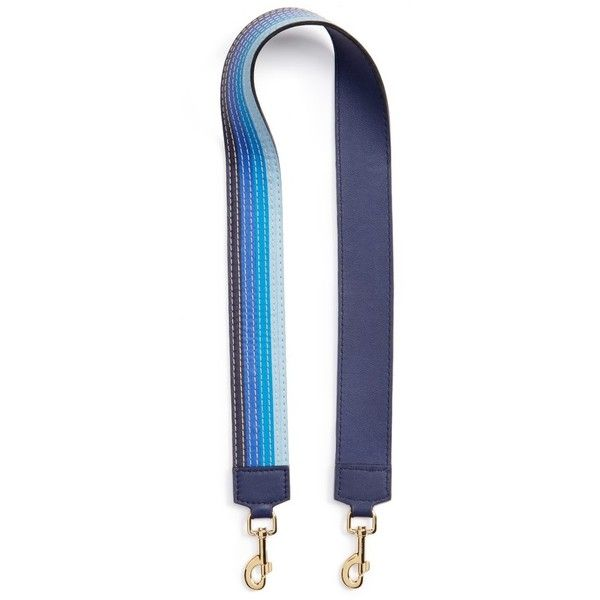 Women's Loewe Degrade Stitches Guitar Strap (10,750 MXN) ❤ liked on Polyvore featuring bags, handbags, shoulder bags, blue multitone, blue shoulder bag, leather handbags, leather shoulder handbags, guitar-strap handbags and blue purse