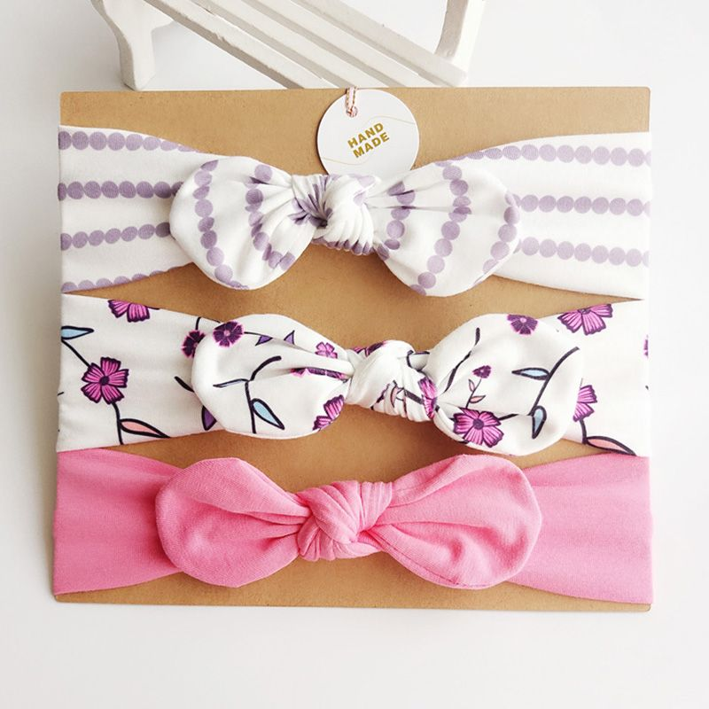 3-pack Sassy Bowknot Design Headband Set for Baby Girl #babyhairaccessories