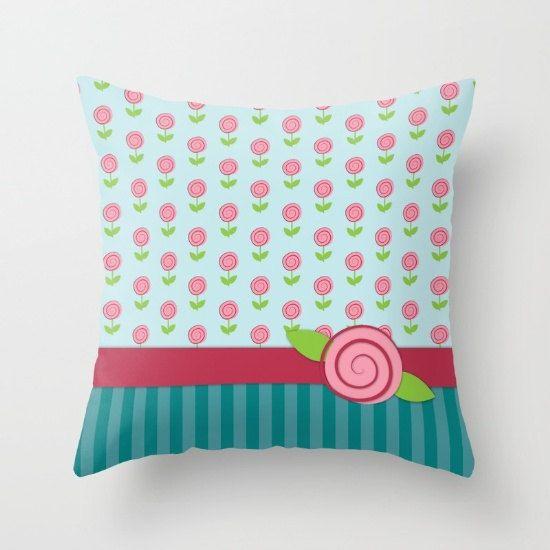 Tiny Roses Throw Pillows Pink Roses Decorative Pillows Couch Enchanting Tiny Decorative Pillows