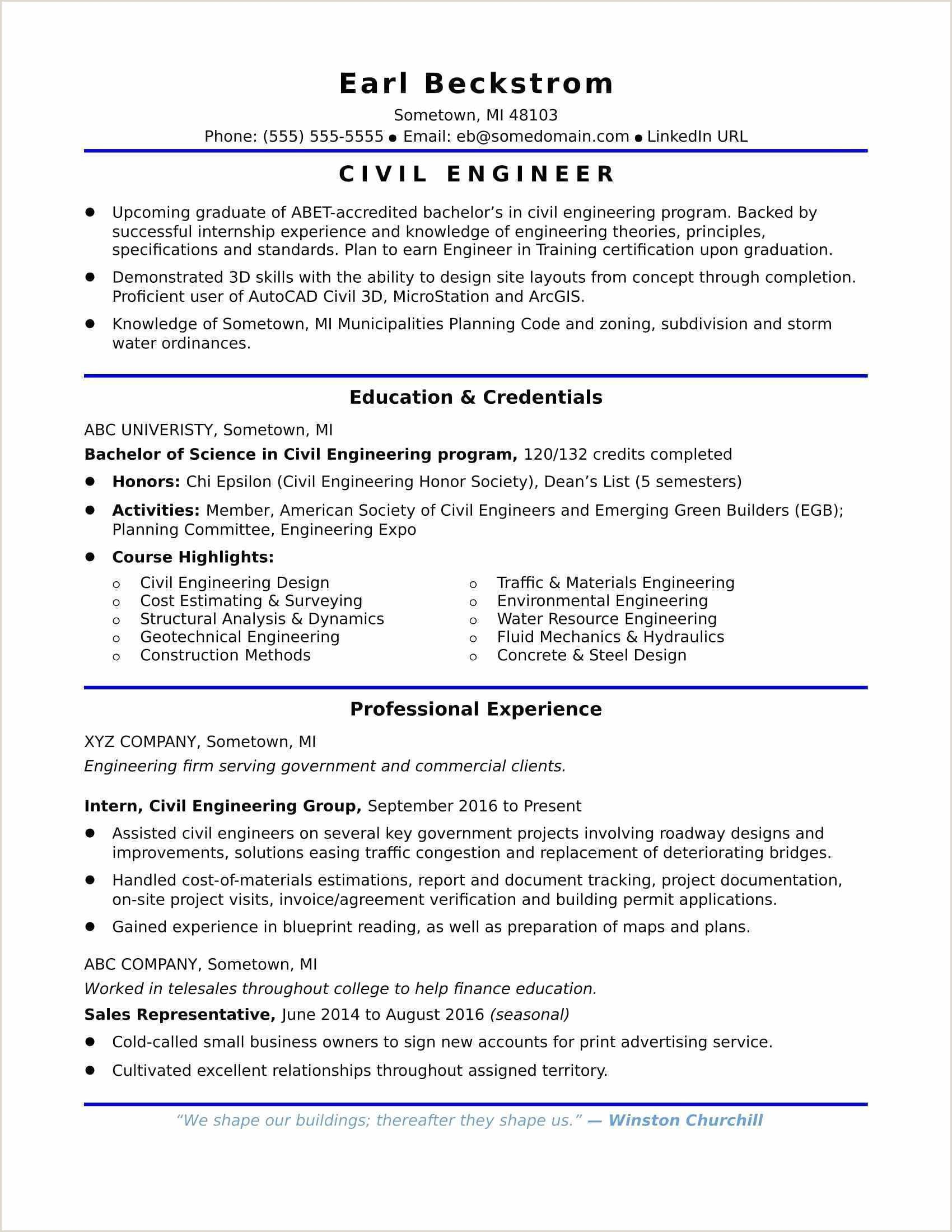 Fresher Resume format Civil Engineer in 2020 Civil