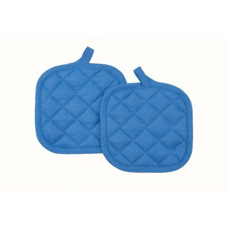 Mainstays Pot Holder Blue 2 Pack Products Pot Holders Blue Walmart