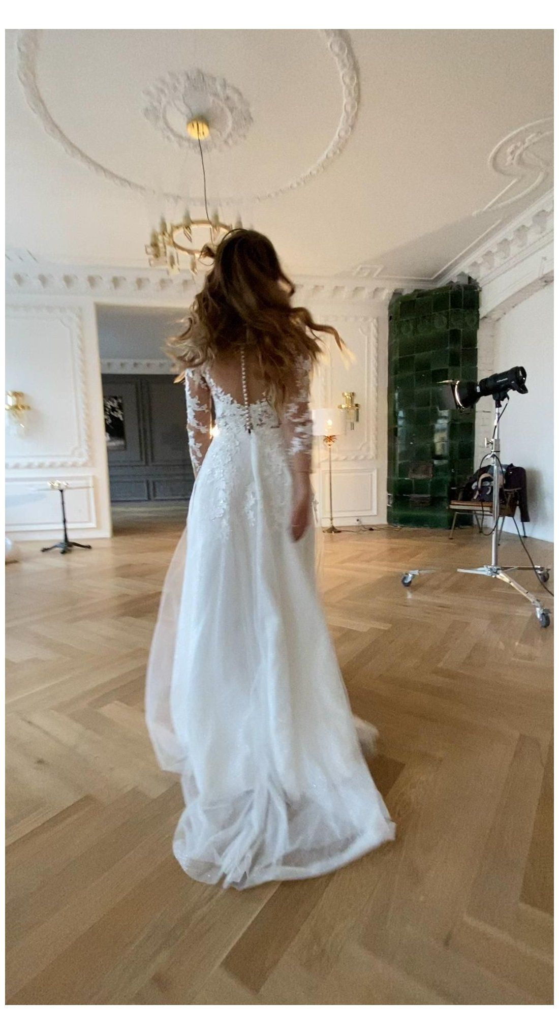 Wedding Dress Enn With Long Sleeves Satin Wedding Dress Simple Wedding Dre Elegant Wedding Dresses Lace Summer Wedding Dress Long Sleeve Wedding Dress Lace [ 2034 x 1100 Pixel ]