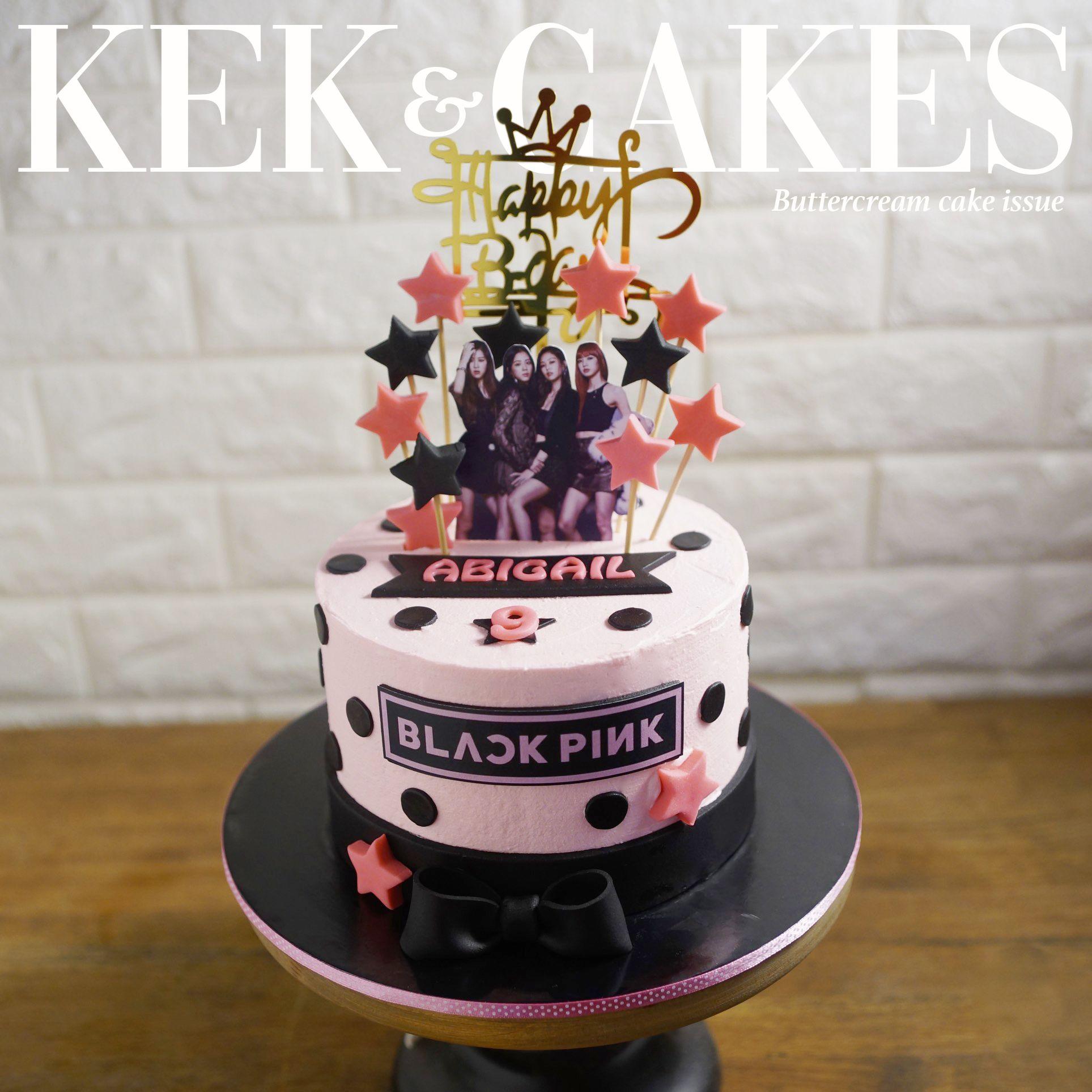 Blackpink Buttercream Cake Cake Buttercream Cake Birthday Party Cake