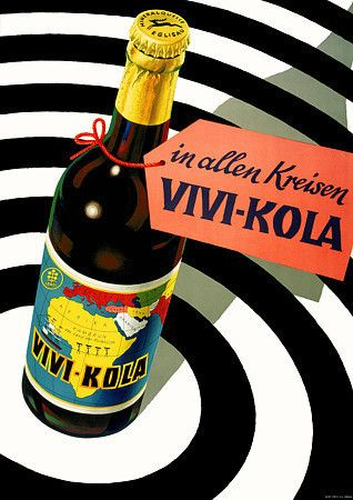 Vivi Kola. 1953  http://www.vintagevenus.com.au/collections/drinks/products/vintage_poster_print-d247