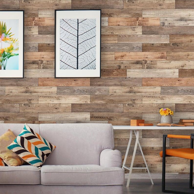 Removable Peel 'n Stick Wallpaper Self-Adhesive Wall ...