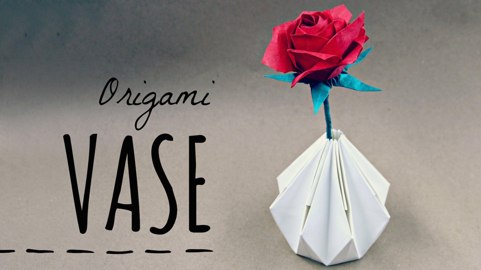 Lampada Origami Istruzioni : Origami vase tadashi mori lampade fare la carta