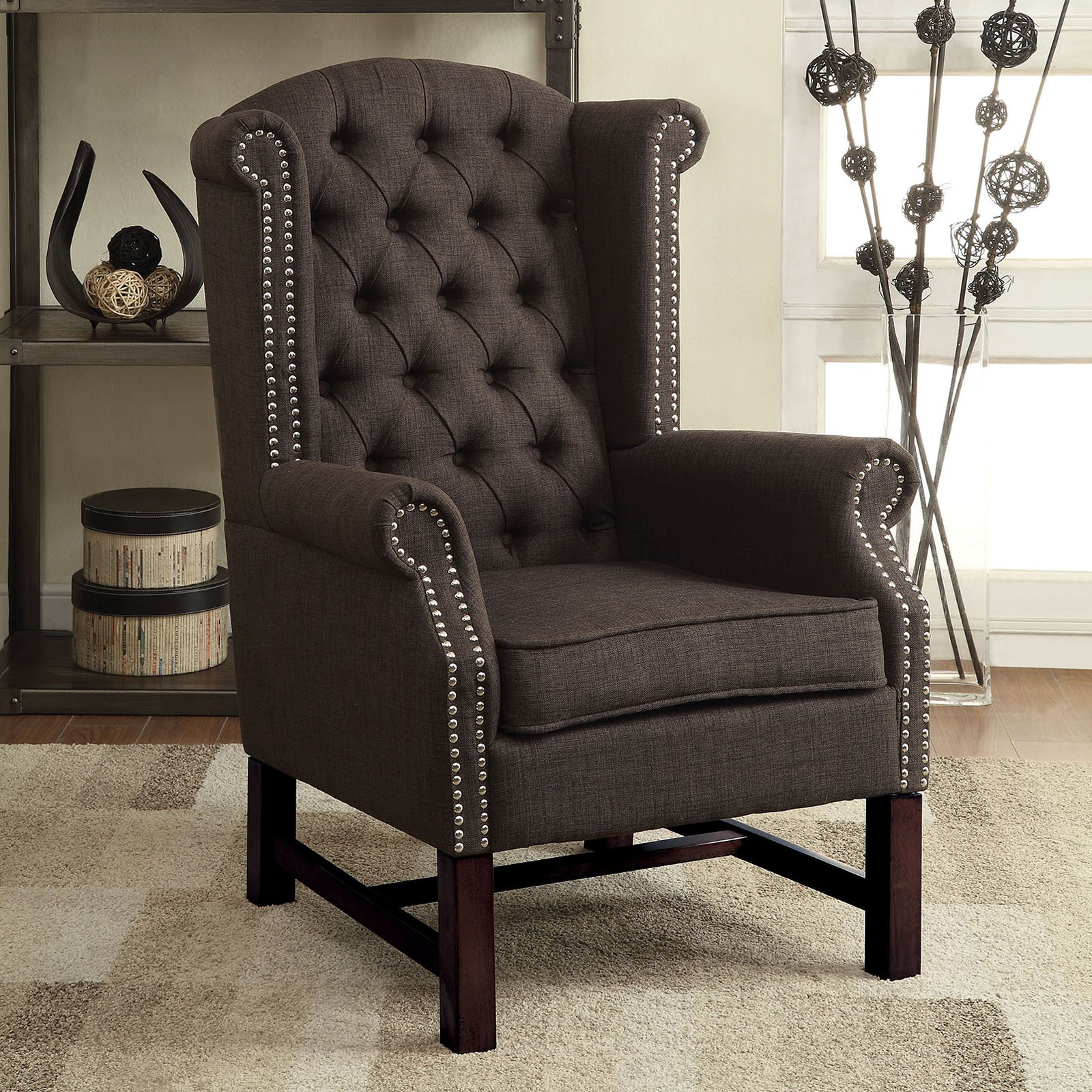 Awe Inspiring Acme Furniture Manly Accent Chair Gray Products In 2019 Onthecornerstone Fun Painted Chair Ideas Images Onthecornerstoneorg