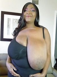 Mature Black Saggy Tits