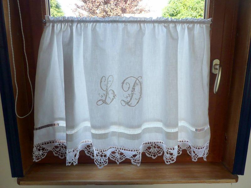 Rideau avec drap ancien int rieur maison moderne - Faire des rideaux avec draps anciens ...