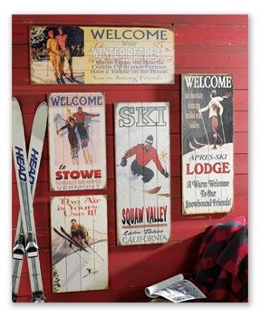 Ski Decor Rustic Wood Decorski Lodge